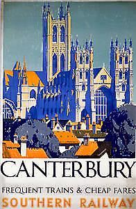 Canterbury (old rail ad.) fridge magnet
