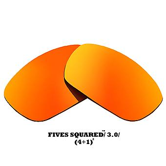 FIVES SQUARED Replacement Lenses Polarized Red Mirror by SEEK fits OAKLEY