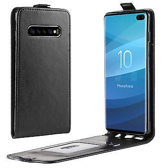 Fliptasche Premium Schwarz für Samsung Galaxy S10 Plus G975F 6.4 Zoll Hülle Case Cover Schutz Zubehör Etui Neu