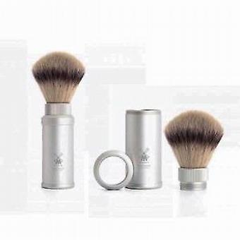 Muhle Synthetic Hair Travel Shaving Brush in Silver Handle