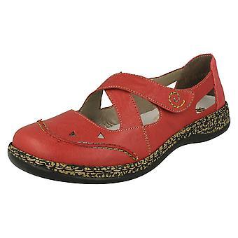 Ladies Rieker Cut Out Detailed Shoes 46335