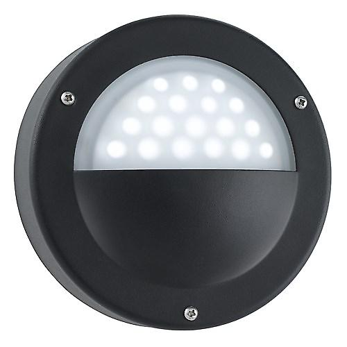 Searchlight 8744BK Led Outdoor Modern Black Wall Light - White Led IP44