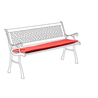 Red Water Resistant Small Outdoor Bench Seat Cushion