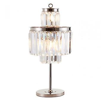 Premier Home Kensington Townhouse 8 Bulbs Table Lamp, Crystal, Iron