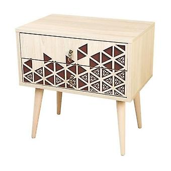 Wooden nightstand with 2 drawers