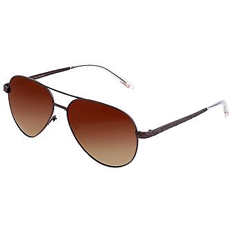 Breed Void Titanium Polarized Sunglasses - Brown/Brown