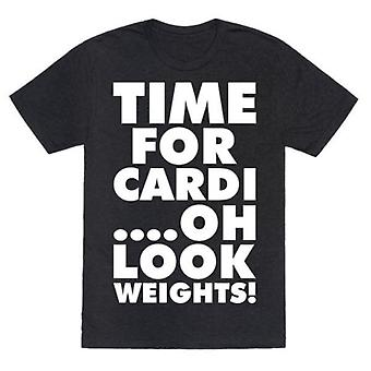 Time for cardi….oh look, weights! t-shirt