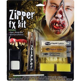 Fermeture à glissière caractère Make Up Kit Zombie