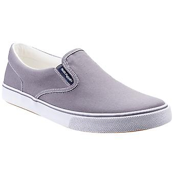 Hush Puppies Mens Chandler Canvas Slip On Plimsolls Shoes