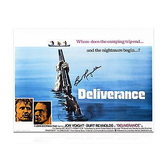 Burt Reynolds Signed Deliverance Film Poster
