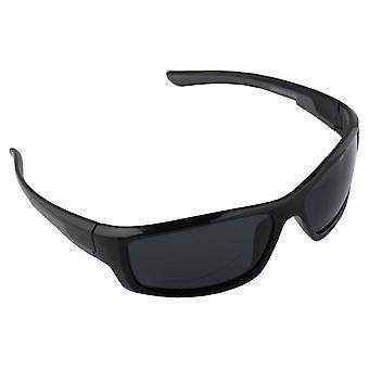 Sonnenbrille UV 400 Sport Rechteck Polarisieren Glas grau schwarz S368_1 FREE BrillenkokerS368_1