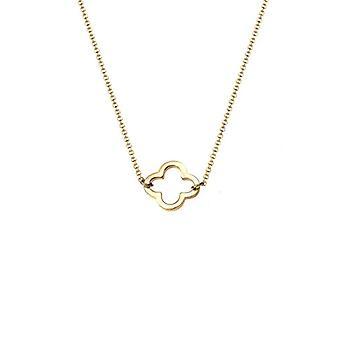 Elli Women's Necklace in Silver 925 with Pendant Quadrifoglio - Gold Plated