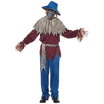 Scarecrow Horreur Creepy Monster Evil Wicked Halloween Adulte Homme Costume