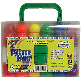 Poster Paint with Carry Case 6 Pkg 78930