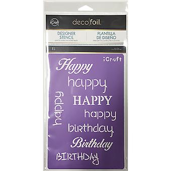 Deco Foil Stencils-Happy DFS-5502