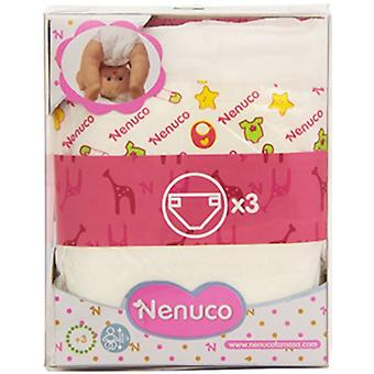 Nenuco 3 Diapers (Toys , Dolls And Accesories , Baby Dolls , Accessoiries)