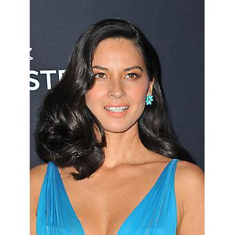 Olivia Munn At Arrivals For 16Th Costume Designers Guild Awards The Beverly Hilton Hotel Beverly Hills Ca February 22 2014 Photo By Dee CerconeEverett Collection Photo Print