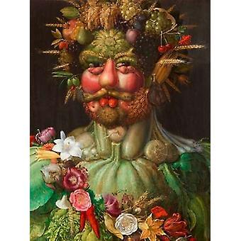 Rudolf II of Habsburg as Vertumnus Poster Print by Giuseppe Arcimboldo
