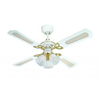 "Westinghouse ceiling fan Princess Trio white 105 cm / 42"" with light"