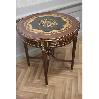 Baroque side - table antique style marquetry MkTa0101B