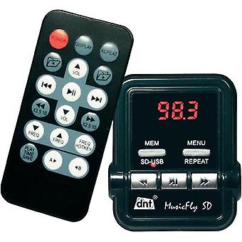 FM transmitter dnt MusicFly SD incl. remote control, Built-in MP3 player