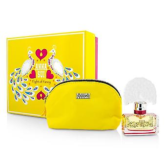 Anna Sui Flight Of Fancy Coffret: Eau De Toilette Spray 30ml/1oz + Cosmetic Pouch 1pc+1pouch