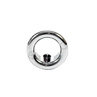 Small Chromed Rosette Rose Collar Bathroom Sink Basin Overflow 15-25mm Diameter