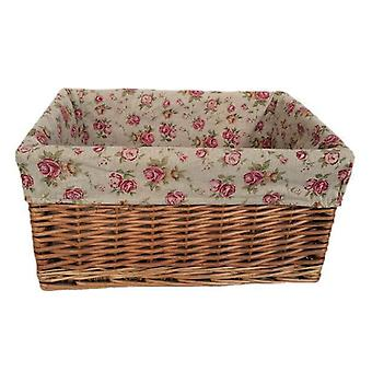 Small Double Steamed Garden Rose Willow Storage Baskets