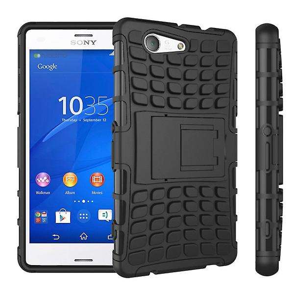 Hybrid case 2 piece SWL robot black for Sony Xperia Z3 compact D5803 M55W