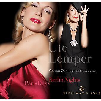 Ute Lemper & Vogler kvartetten - Paris dage, Berlin overnatninger [CD] USA importerer