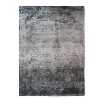 Shimmering Grey Viscose Rug - Eclectic