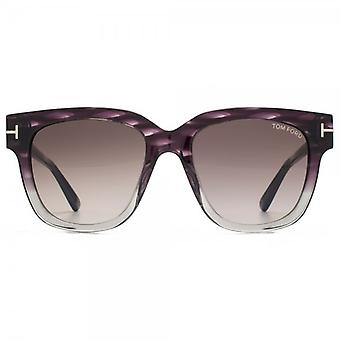 Tom Ford Tracey Sunglasses In Grey Violet Gradient