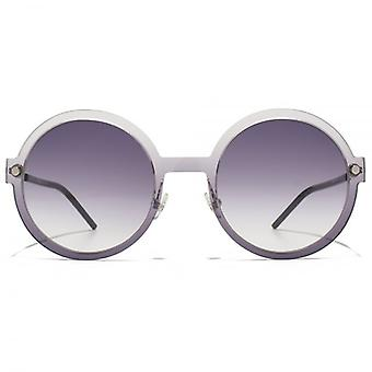 Marc Jacobs Contemporary Round Sunglasses In Grey Black