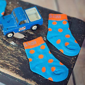 Blade & Rose Orange Polka Dot Children's Socks