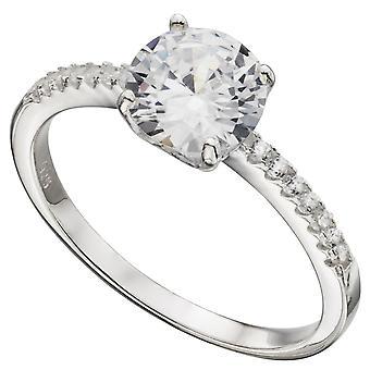 Zirconia argento 925 anello alla moda