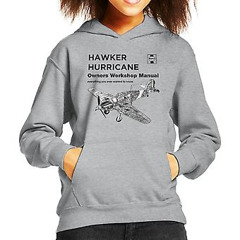 Haynes Owners Workshop Manual Hawker Hurricane VW Kid's Hooded Sweatshirt