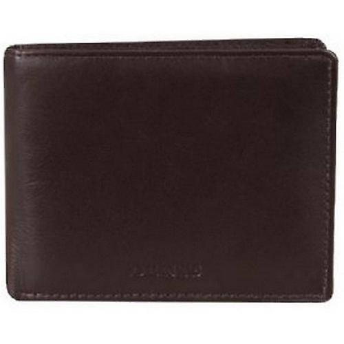 Dents Leather Coin / Card Bill-Fold Wallet - Chocolate Brown