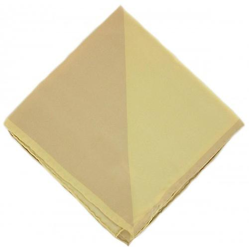 Michelsons of London Two Colour Silk Handkerchief - Gold/Yellow