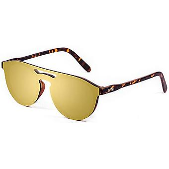 Ocean Modena Flat Lense Demy Sunglasses - Gold/Brown