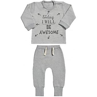 Spoilt Rotten Today I Will Be Amazing Sweatshirt & Joggers Baby Outfit Set