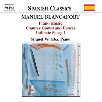 M. Blancafort - Manuel Blancafort: Piano Music; Country Games and Dances; Intimate Songs I [CD] USA import