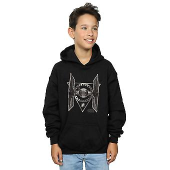 Star Wars Boys The Last Jedi Tie Fighter Hoodie