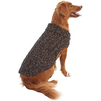 Dog Multi-Crochet Sweater-Black Large 601606