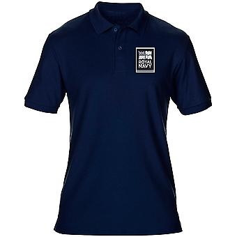 Kungliga flottans flagga Logo B&W linje officiella MOD - Mens Polo Shirt