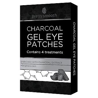 4 Charcoal Gel Under Eye Patches Collagen Pads Mask Fine Lines Anti Ageing