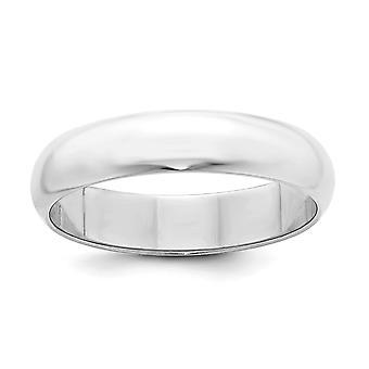 Argento 5mm mezzatonda banda anello - anello di dimensioni: 4 a 13,5