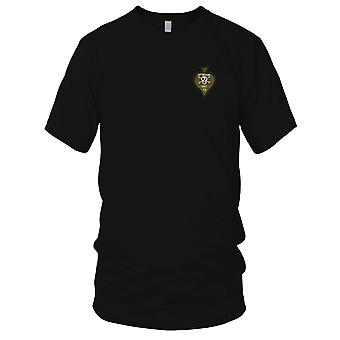 USMC 1st Recon - Hand Sewn Vietnam War Insignia Embroidered Patch - Mens T Shirt