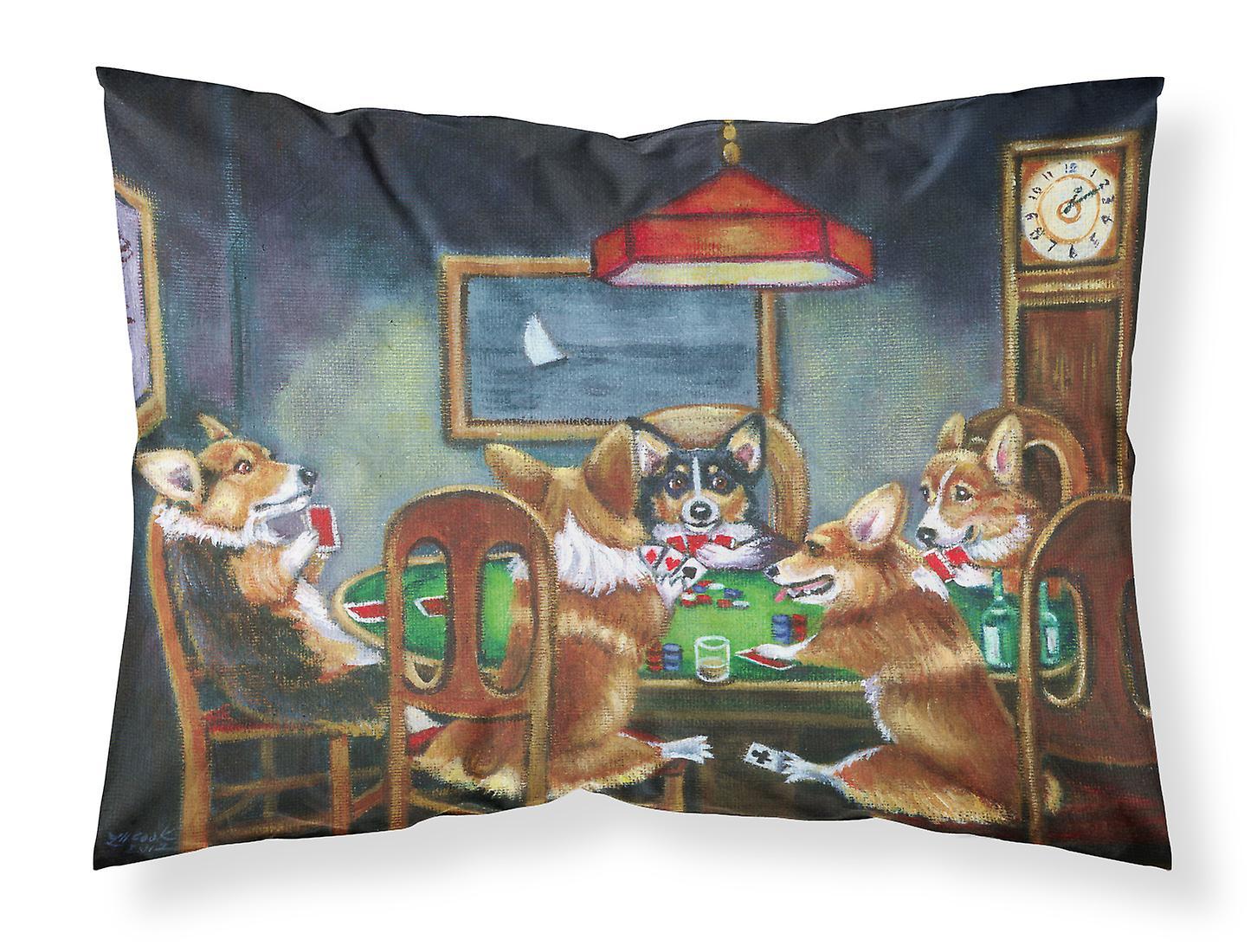 Poker Taie Jouer Standard D'oreiller Corgi Tissu 8vn0mwN