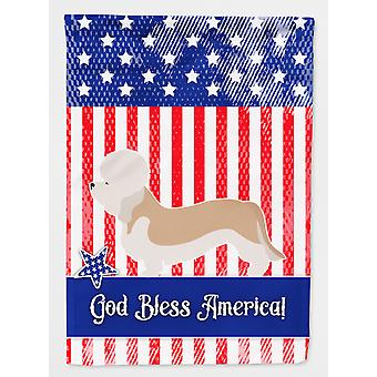 كارولين الكنوز BB8393GF Dandie دينمونت الكلب أمريكا العلم الحديقة الحجم