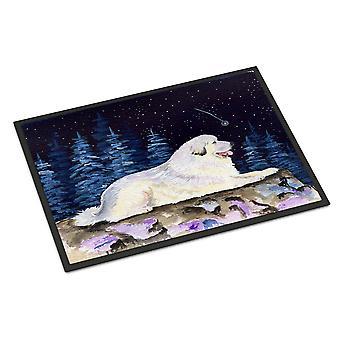Starry Night Great Pyrenees Indoor or Outdoor Mat 24x36 Doormat